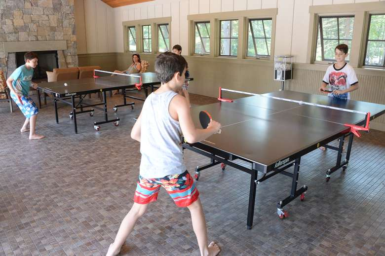 kids playing ping pong