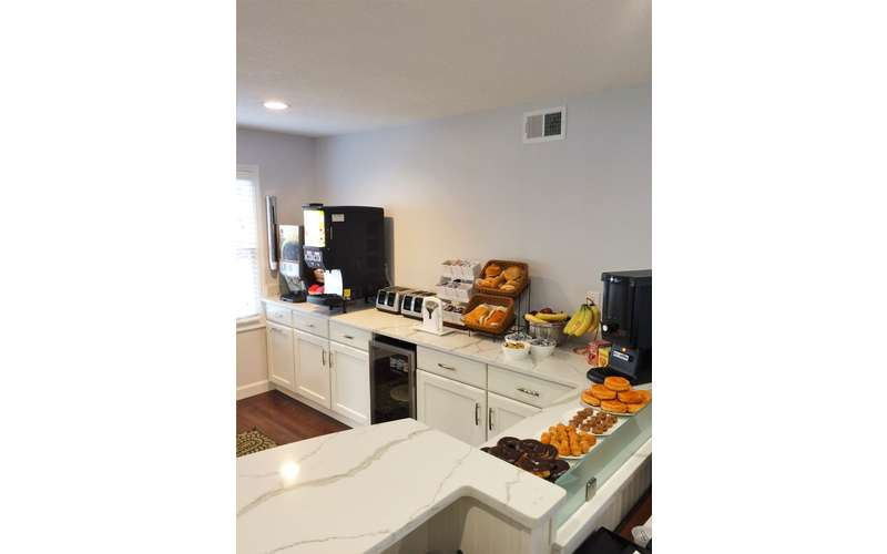 breakfast foods in dining area