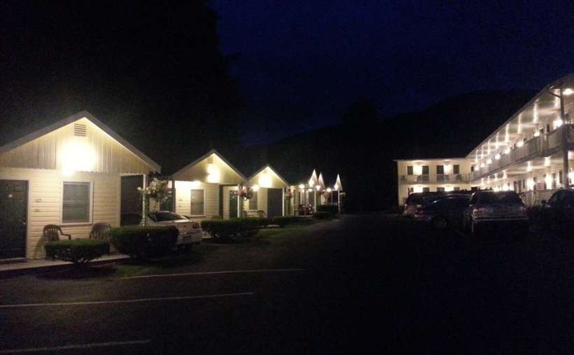 the cottages at night