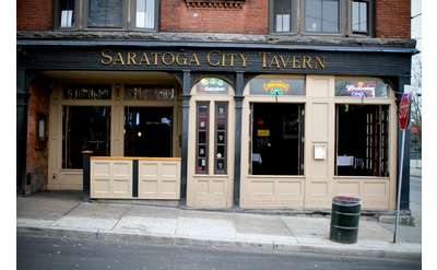 front entrance of saratoga city tavern