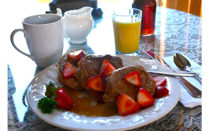 Breakfast at Union Gables is always delicious and relaxing