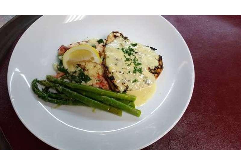Swordfish risotto
