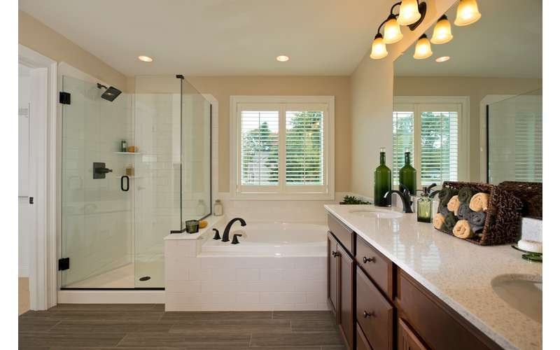 Master Bathroom in our 2013 Saratoga Showcase Home award-winning model, The Frisco