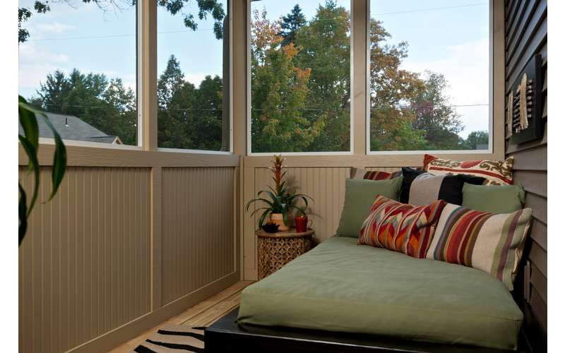 Sleeping porch in our Frisco model in McKenzie's Way in Saratoga Springs