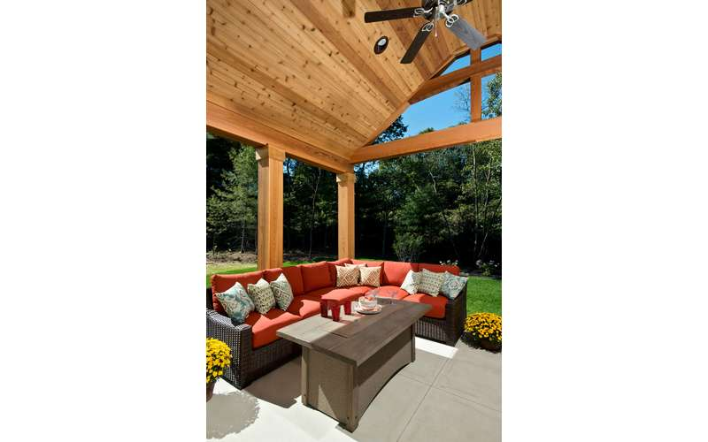 Outdoor Living area in our Chesapeke, 2015 Saratoga Showcase Home