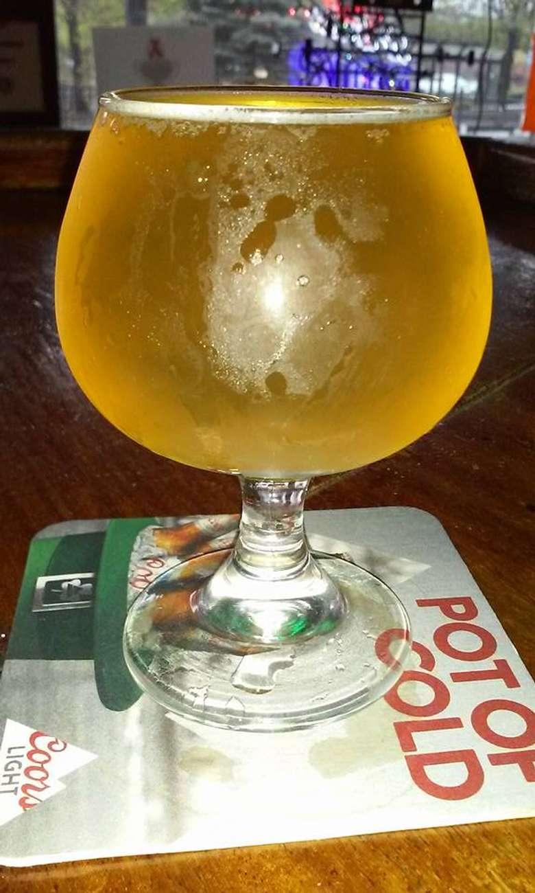 beer in a goblet