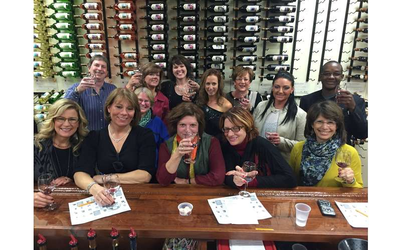 group of wine tasters