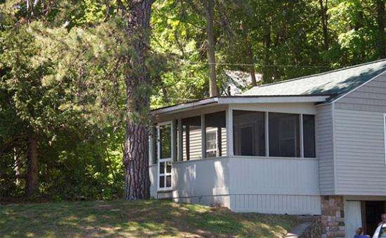 cabin with screened in porch