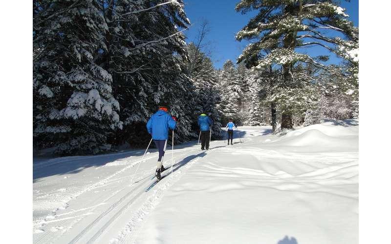 groomed cross-country ski trails