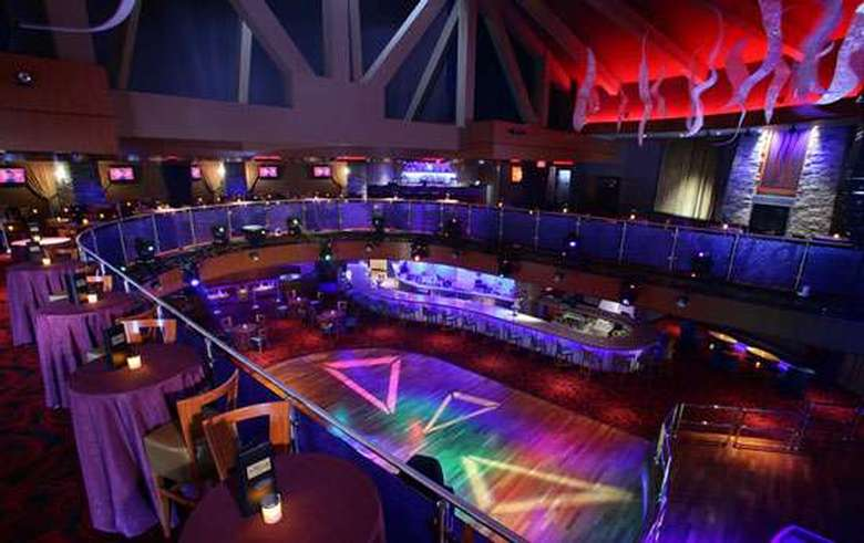 view from above of the dance floor at vapor night club