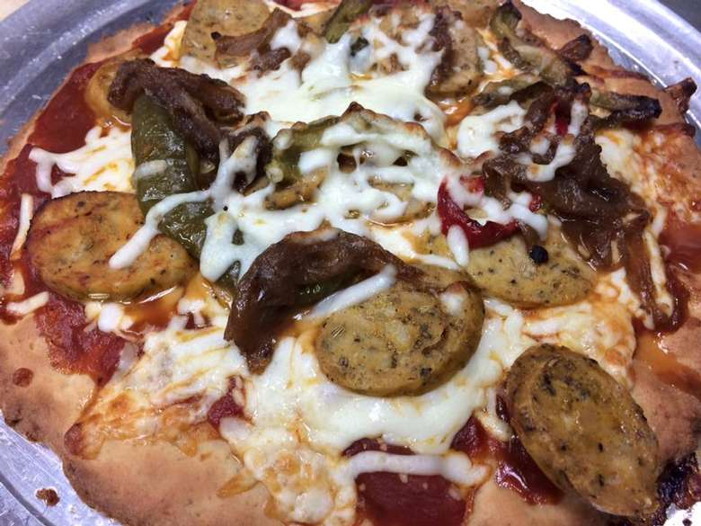 Gluten free Pizza on a plate