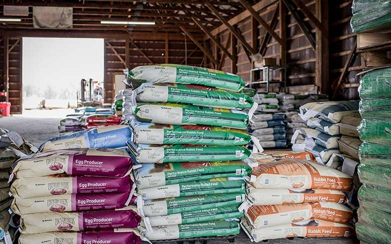 large bags of feed