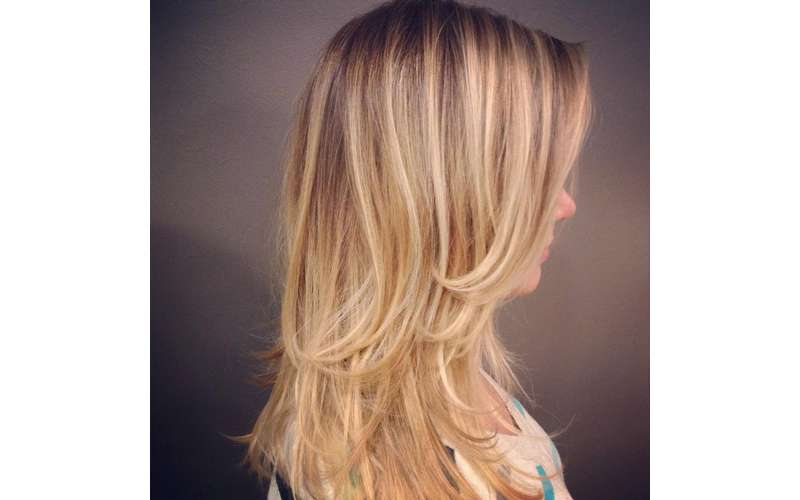 Blonde Balayage hair color {crafted by Jaysie}
