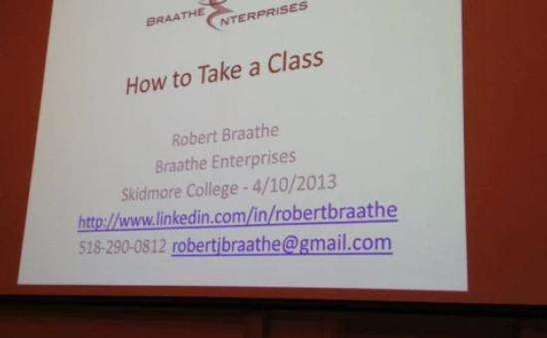 powerpoint slide with information on registering for a class with braathe enterprises