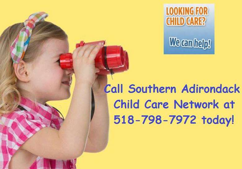 Southern Adirondack Child Care Network Ad with phone number 518-798-7972