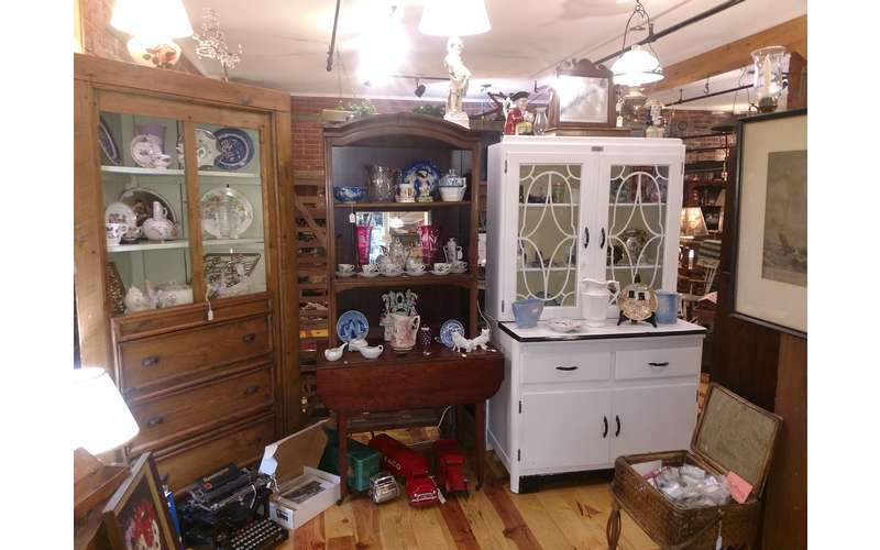 dressers and hutches in a shop