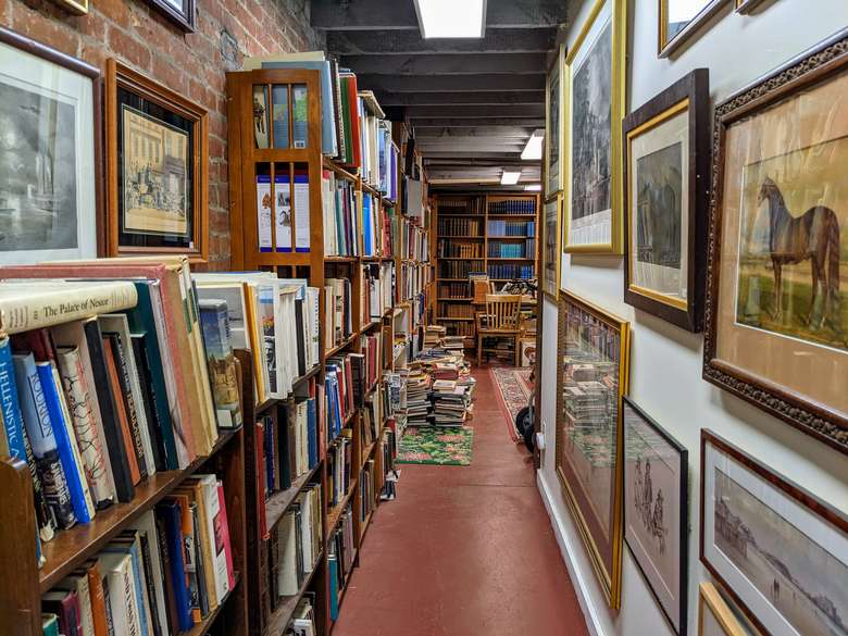 hallway in bookstore