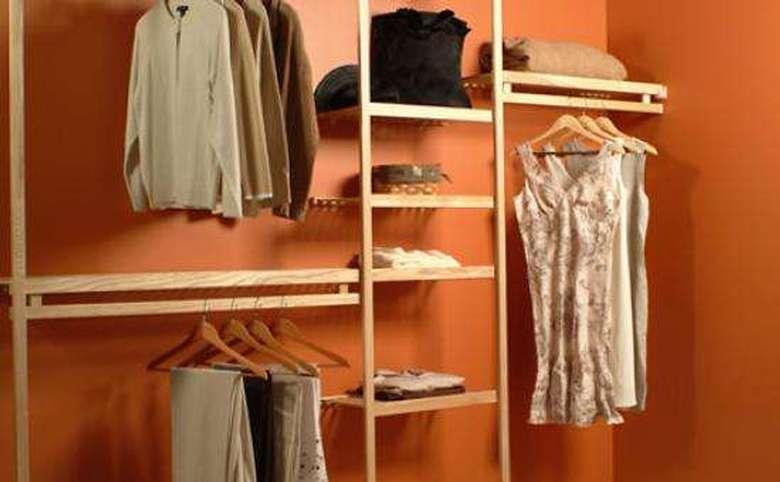 Closet with light wood