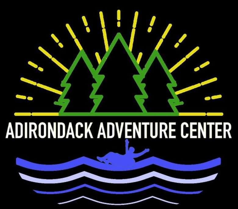 the logo for adirondack adventure center
