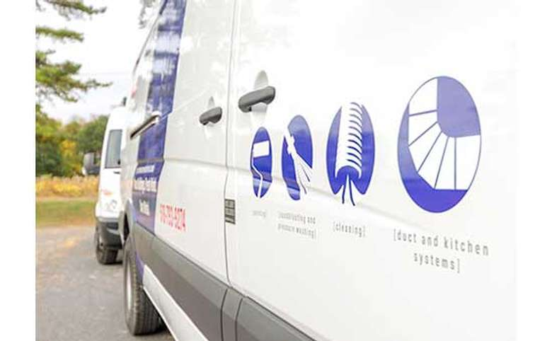 performance industrial van showing the company's different services