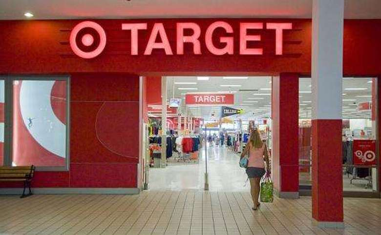 the entrance to target from the mall