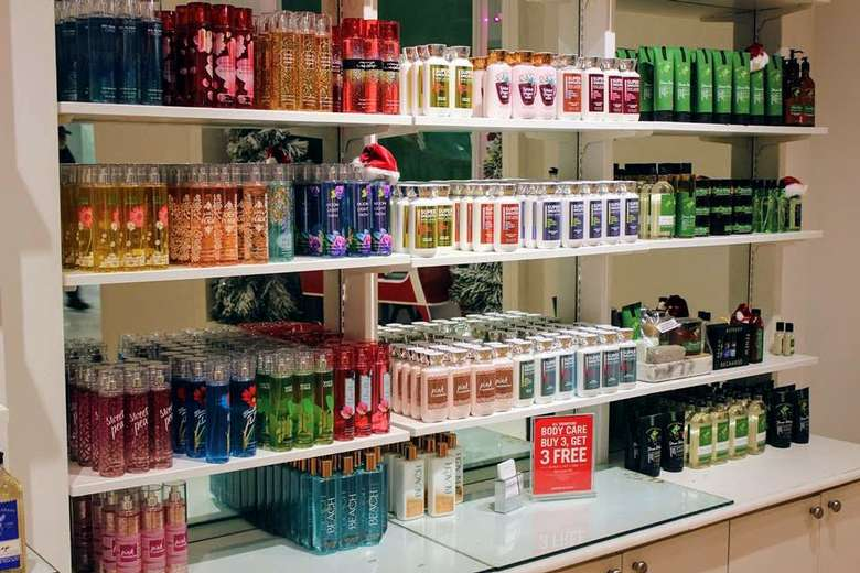 a line of Bath & Body Works products