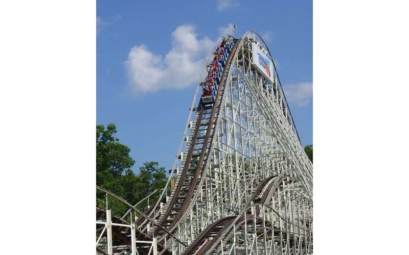 The Comet is a massive, 4,200-foot wooden coaster that is one of the park's most historic rides.