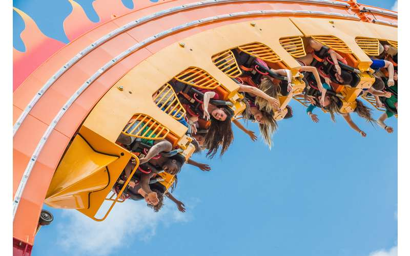 Experience weightless hang time while riding on Greezed Lightnin'!