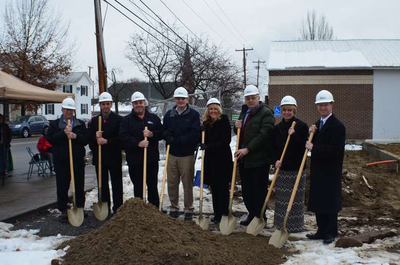 Group breaking ground at site