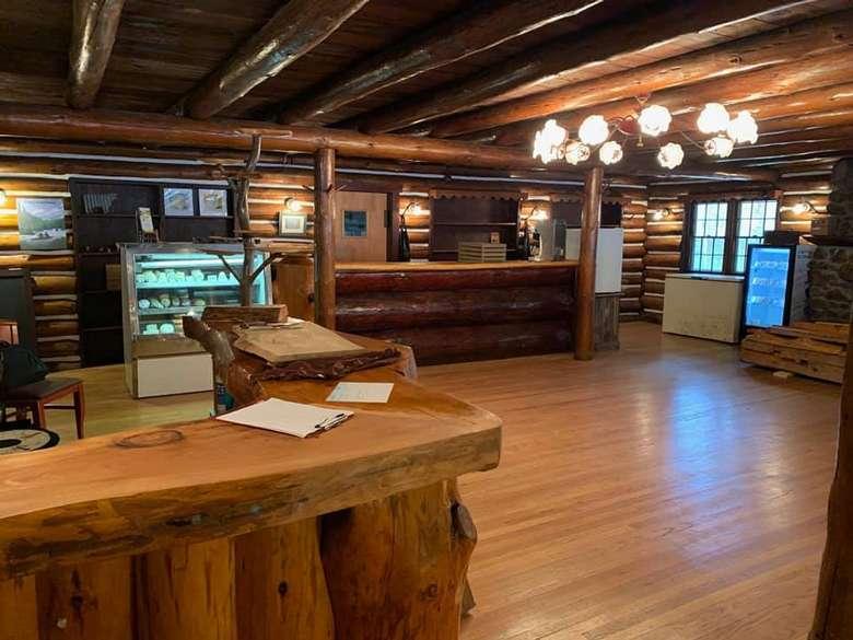 log cabin retail store
