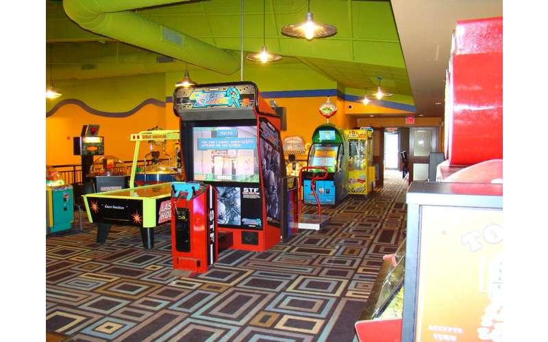 a room filled with arcade machines