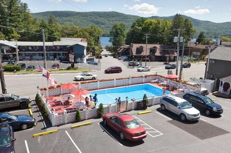 parking lot by outdoor pool