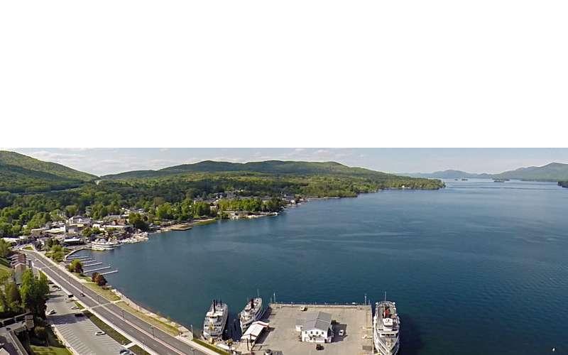 aerial view of Lake George
