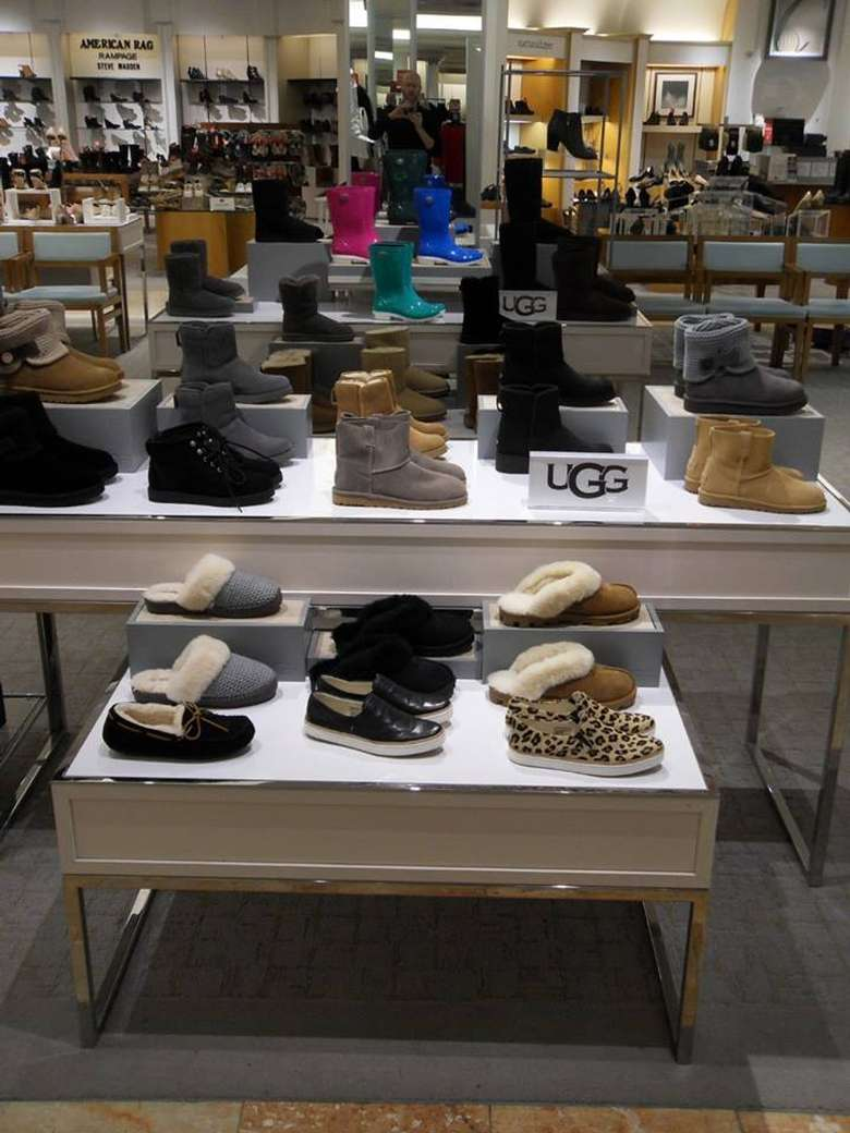 shoes on display at a store