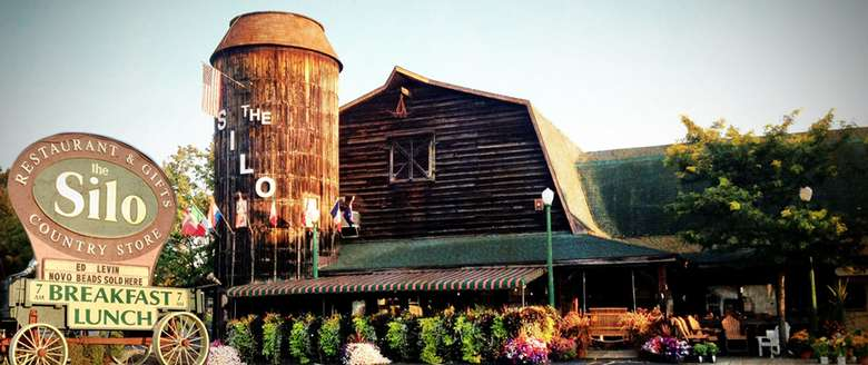 exterior of the silo country store
