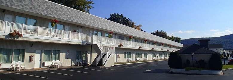 exterior of a motel