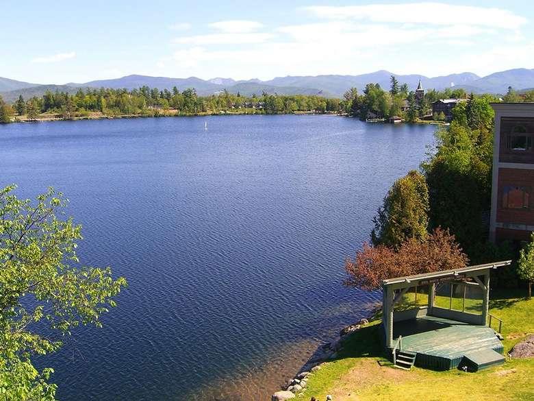 a large lake