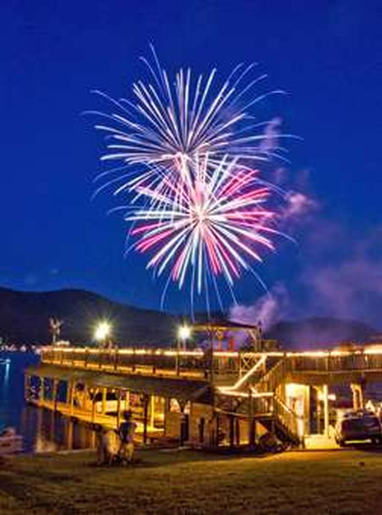 Fireworks above the Boathouse