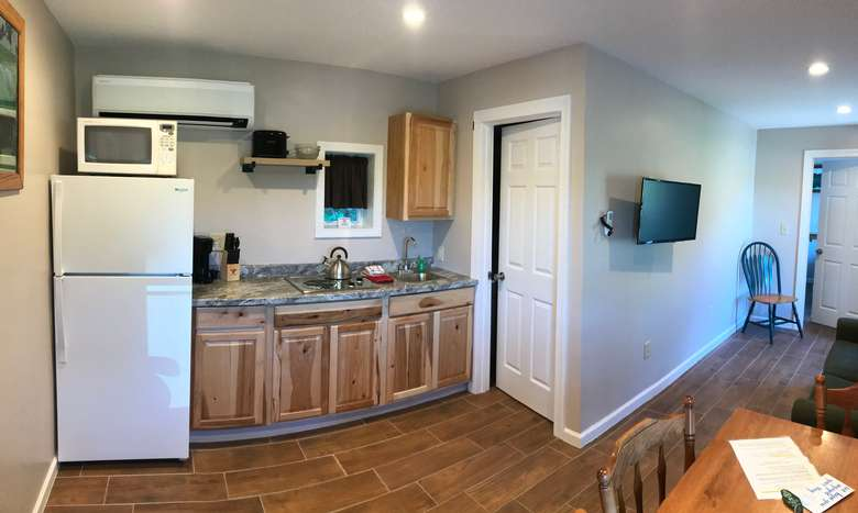 Living space of the two bedroom suite.