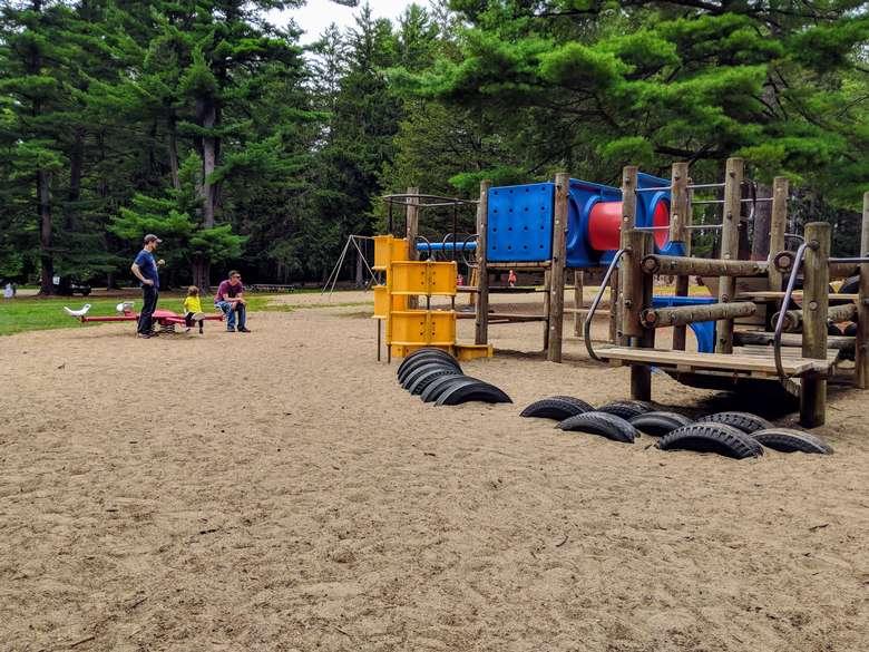 people near playground