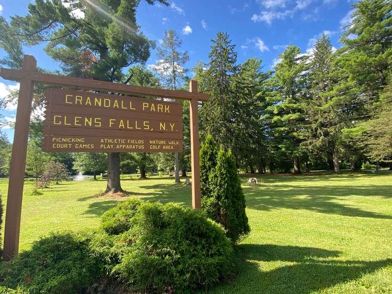 Crandall Park sign
