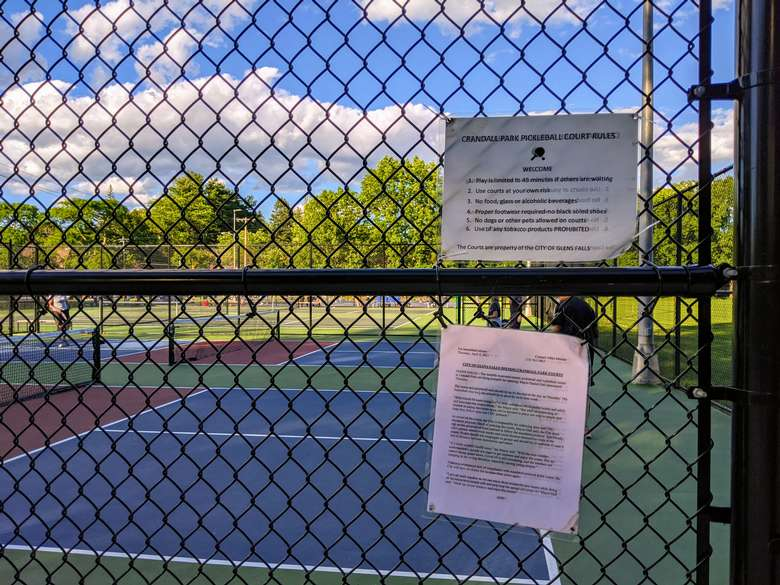 pickleball court and sign