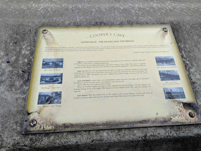 Cooper's Cave sign