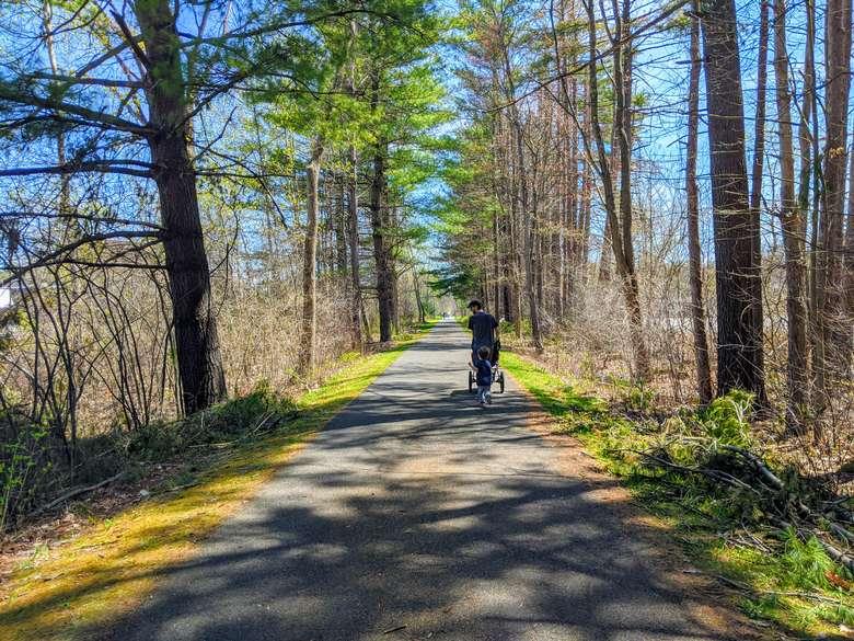 people on bike path