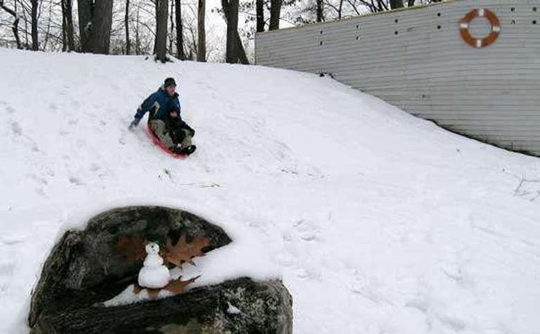 person sledding