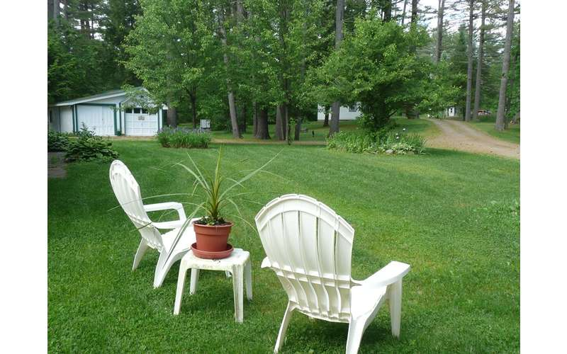 two white lawn chairs