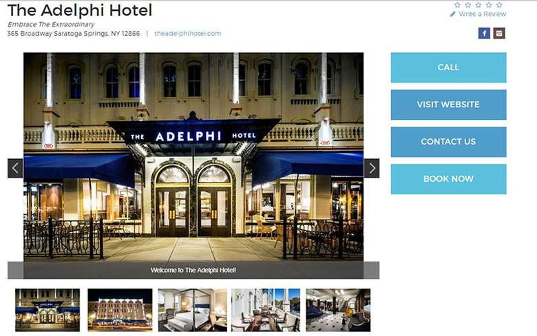 adelphi hotel business listing
