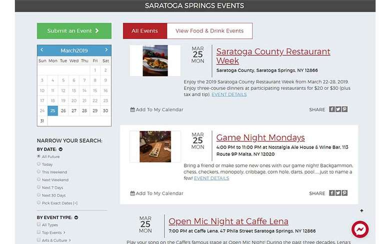 saratoga events calendar