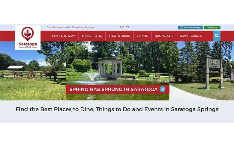 home page for saratoga.com