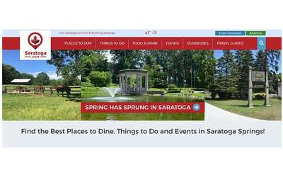 home page for saratoga.com